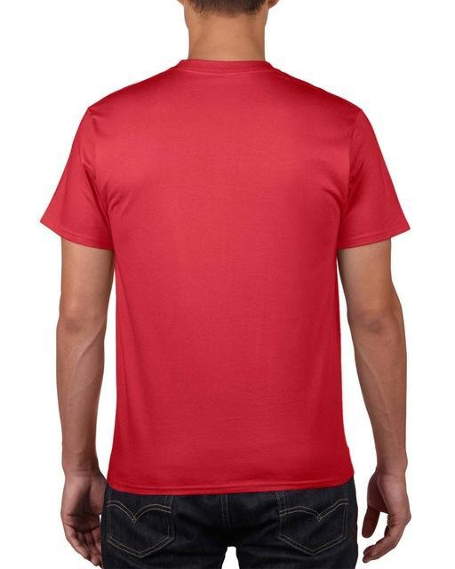 Sleeves Cotton T Shirt Gildan Casual Short O-Neck Mens I'D Rather Be Fing-Shirts-Bargain Bait Box-Red-Asia Size S-Bargain Bait Box