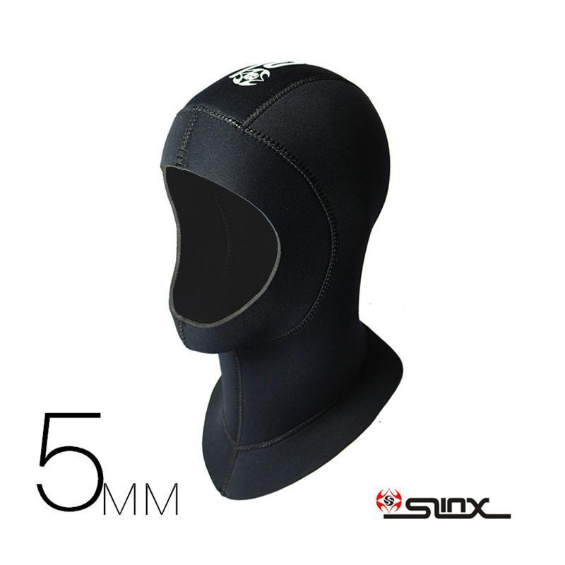 Slinx 3Mm 5Mm Neoprene Men Women Scuba Diving Snorkeling Neck Hat Full Face Mask-Spearfishing-Bargain Bait Box-3mm M-Bargain Bait Box