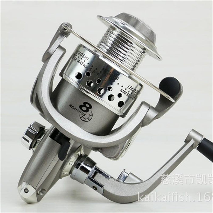 Sliver Color Professional Plating 8 Bb 5.5:1 Bearing Metal Fishing Line Cup-Spinning Reels-China Fishing knight Store-1000 Series-Bargain Bait Box