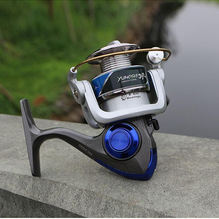 Small Fishing Reel Pesca Carp Reel 6Bb Spinning Fishing Reel Carretilhas De-Spinning Reels-HUDA Outdoor Equipment Store-1000 Series-Bargain Bait Box