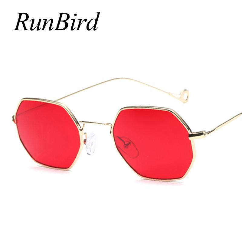 Small Frame Retro Sun Glasses For Men Brand Design Polygon Sunglasses Women-Sunglasses-runbird Official Store-Black Frame Black-Bargain Bait Box