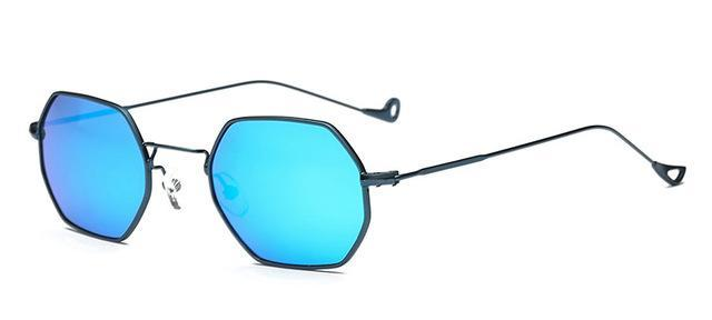 Small Frame Retro Sun Glasses For Men Brand Design Polygon Sunglasses Women-Sunglasses-runbird Official Store-Blue Frame Blue-Bargain Bait Box