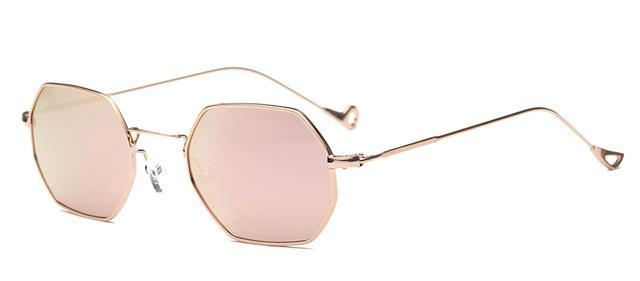 Small Frame Retro Sun Glasses For Men Brand Design Polygon Sunglasses Women-Sunglasses-runbird Official Store-Pink Mirror-Bargain Bait Box