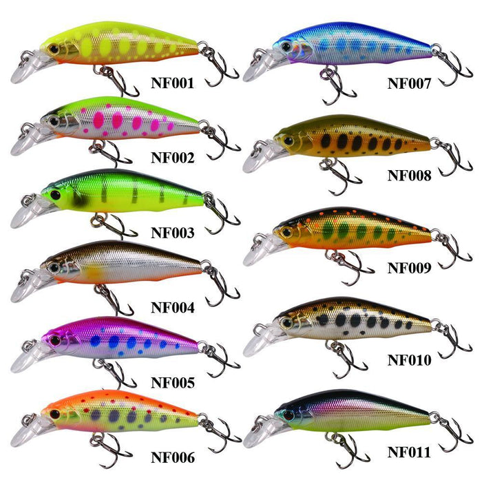 Smart 42Mm/3.66G Minnow Lures Sinking Vmc Hook Souple Iscas Artificiais Swimbait-Bassking Fishing Tackle Co,Ltd Store-NF001-Bargain Bait Box
