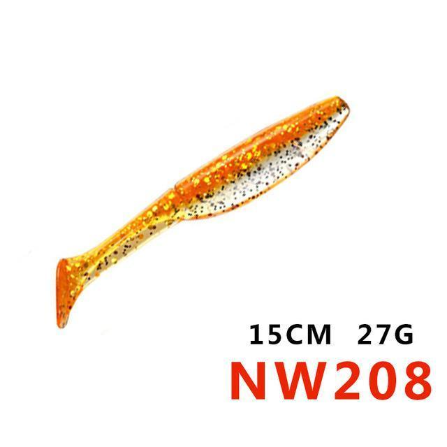 Soft Bait 12.5Cm 15Cm 10Colors Noeby Lifelike Special Fishing Lure Plastic Baits-hunt-house Store-150mm27gNW208-Bargain Bait Box