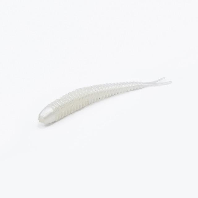 Soft Fishing Lures Split Tail Sandworms 5.8Cm 1G 10Pcs Swimbait Soft Bait Shad-ProFishing Store-White-Bargain Bait Box