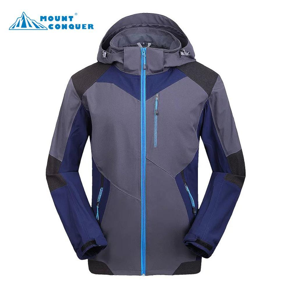 Soft Shell Men Jacket Jaqueta Camping Sports Coat Fishing Jackets Waterproof-Jackets-Bargain Bait Box-blue-S-Bargain Bait Box