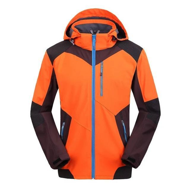 Soft Shell Men Jacket Jaqueta Camping Sports Coat Fishing Jackets Waterproof-Jackets-Bargain Bait Box-orange-S-Bargain Bait Box