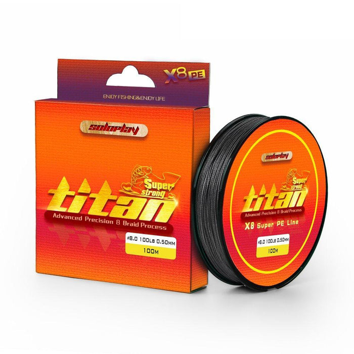 Soloplay 100M 8X 20-100Lb Extreme Strong 8 Strands Braided Fishing Line-Li Fishing geer Co.,Ltd-Green-0.4-Bargain Bait Box