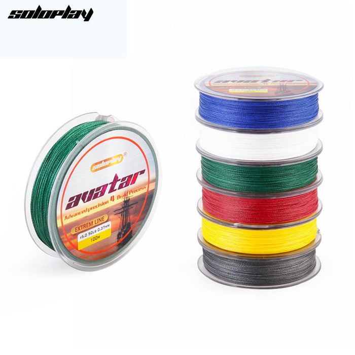 Soloplay Superpower 100M 8Lb - 80Lb Braided Fishing Line Pe Strong Multifilament-Li Fishing geer Co.,Ltd-White-0.4-Bargain Bait Box