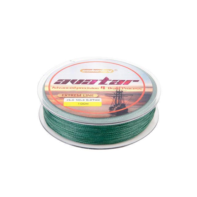 Soloplay100M Super Strong Japanese Multifilament Pe Braided Fishing Line 12 20-Li Fishing geer Co.,Ltd-Green-0.4-Bargain Bait Box