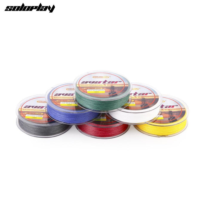 Soloplay100M Super Strong Japanese Multifilament Pe Braided Fishing Line 12 20-Li Fishing geer Co.,Ltd-White-0.4-Bargain Bait Box