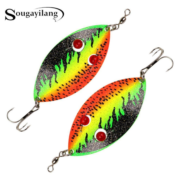 Sougayilang 35G Winter Spoon Fishing Lure 12Cm Trout Hard Metal Vib Lure Pike-Musky & Pike Baits-Bargain Bait Box-Bargain Bait Box