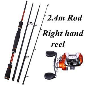 Sougayilang 4 Sections Fishing Rod Spinning 2.1M 2.4M 2.7M Carbon Spinning Rod-Spinning Rods-Gada Fishing Tackle Trade Co., Ltd.-Purple-Bargain Bait Box