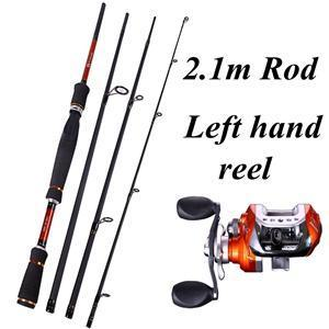 Sougayilang 4 Sections Fishing Rod Spinning 2.1M 2.4M 2.7M Carbon Spinning Rod-Spinning Rods-Gada Fishing Tackle Trade Co., Ltd.-Red-Bargain Bait Box