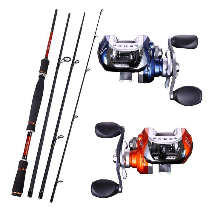 Sougayilang 4 Sections Fishing Rod Spinning 2.1M 2.4M 2.7M Carbon Spinning Rod-Spinning Rods-Gada Fishing Tackle Trade Co., Ltd.-White-Bargain Bait Box