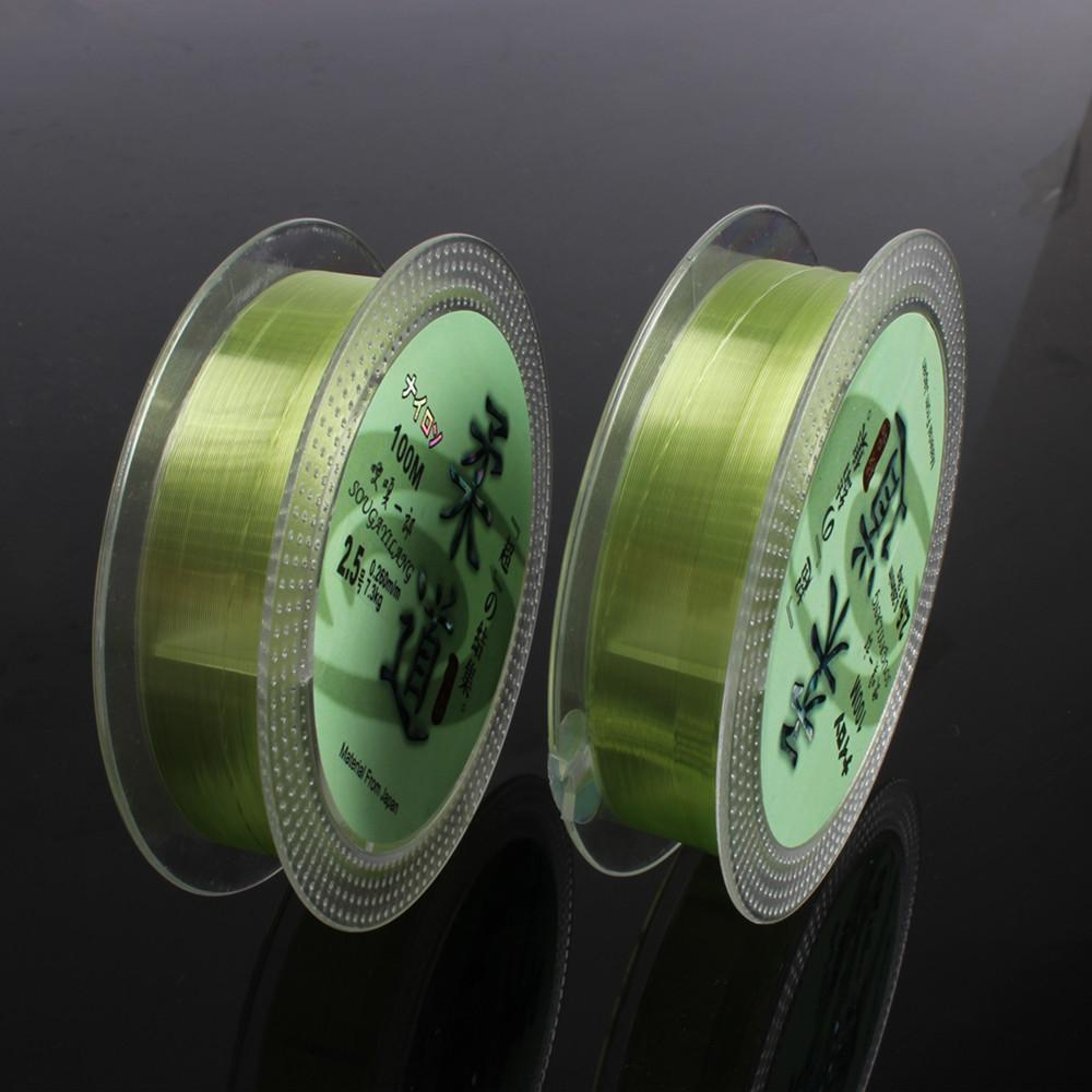 Sougayilang Transparent Fluorocarbon Fishing Line Green 100M-Sougayilang-0.6-Bargain Bait Box