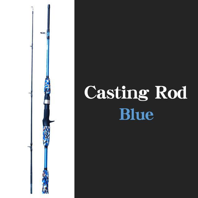 Spinning Casting Hand Lure Fishing Rod Pesca Carbon Pole Canne Carp Fly Gear-Fishing Rods-Shop4435130 Store-Casting Blue-1.5M-Bargain Bait Box
