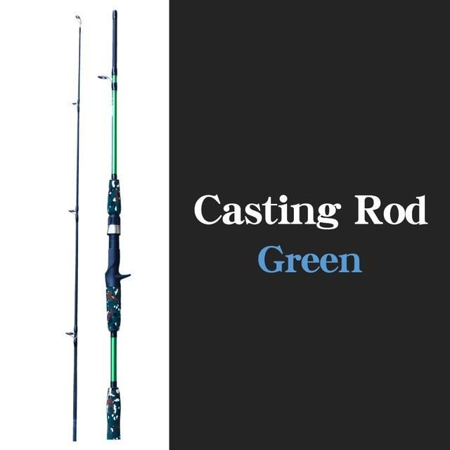 Spinning Casting Hand Lure Fishing Rod Pesca Carbon Pole Canne Carp Fly Gear-Fishing Rods-Shop4435130 Store-Casting GREEN-1.5M-Bargain Bait Box