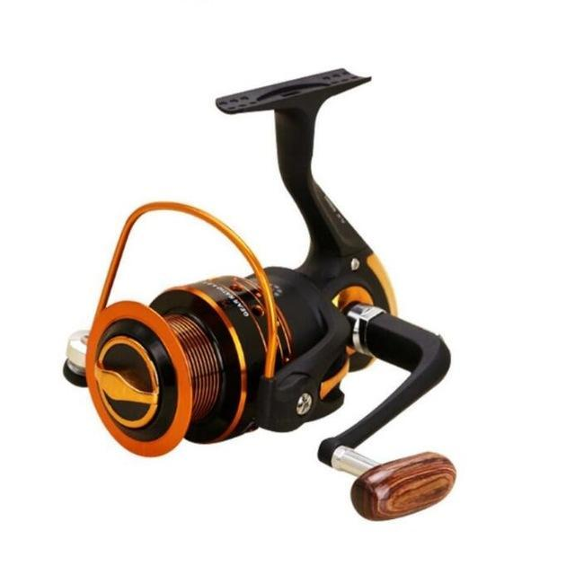 Spinning Fishing Reel White And Black 5.2:1/5.5:1 /4.1:1 13Ball Bearings-Spinning Reels-HUDA Sky Outdoor Equipment Store-Black-1000 Series-Bargain Bait Box