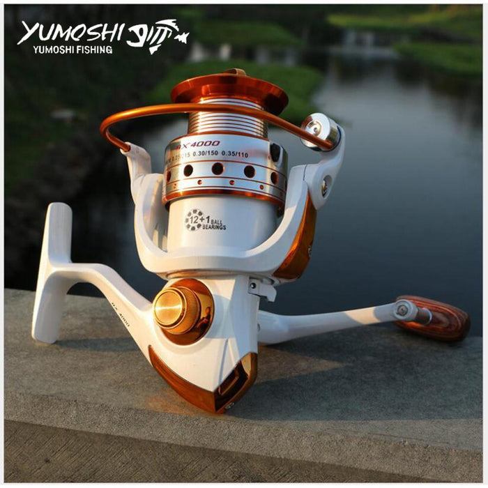 Spinning Fishing Reel White And Black 5.2:1/5.5:1 /4.1:1 13Ball Bearings-Spinning Reels-HUDA Sky Outdoor Equipment Store-White-1000 Series-Bargain Bait Box