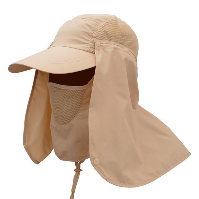 Sport Camping Visor Hat Uv Protection Face Neck Cover Fishing Sun Protcet Cap-Hats-Bargain Bait Box-khaki-L-Bargain Bait Box
