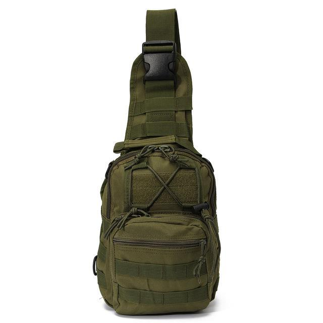 Sport Nylon Tactical Military Sling Single Shoulder Chest Bag Pack Camping-Backpacks-Bargain Bait Box-Army green-China-Bargain Bait Box