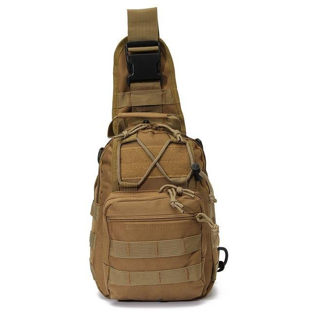 Sport Nylon Tactical Military Sling Single Shoulder Chest Bag Pack Camping-Backpacks-Bargain Bait Box-Mud-China-Bargain Bait Box