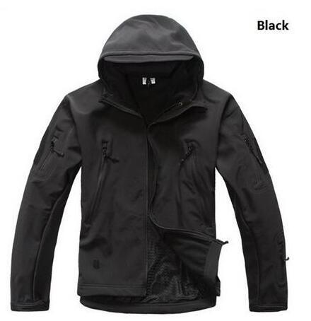 Sport Tactical Military Jacket Men'S For Camping Softshell Waterproof-Jackets-Bargain Bait Box-BLACK-S-Bargain Bait Box