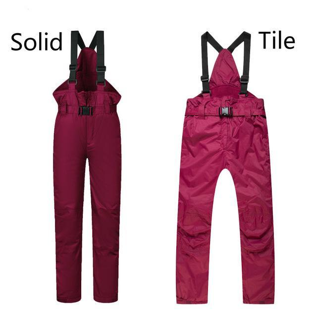 Sports Boys Girls Ski Pants Kids Windproof Waterproof Warm Snow Snowboard-Snow Pants-Bargain Bait Box-RED-XS-Bargain Bait Box