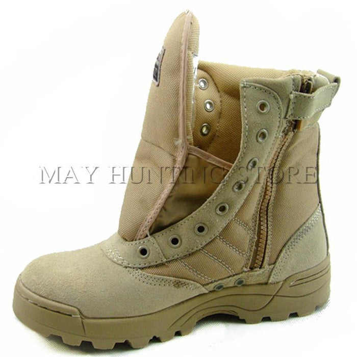 Spring Summer Outdoor Boots Male Combat Boots Desert Boots Tactical Thigh High-May Tactical Equipment Store-black-6-Bargain Bait Box