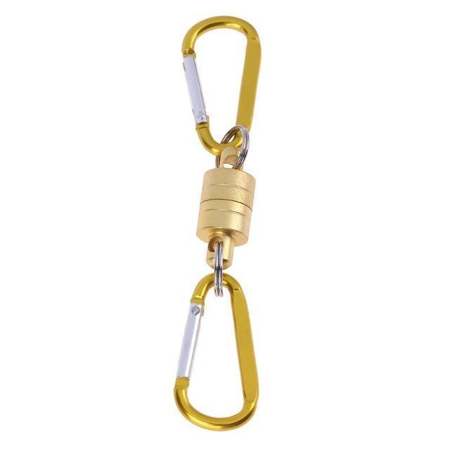 Stainless Steel Carp Fishing Swivels Snap Magnet Buckle Fly Fishing Magnetic Net-Agreement-Yellow-Bargain Bait Box