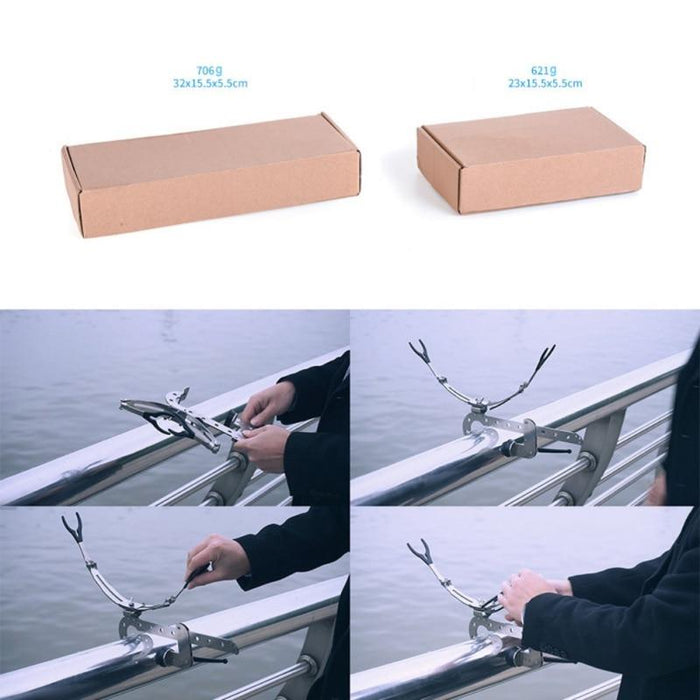 Stainless Steel Fishing Rod Rest Racks Adjustable Folding Fishing Pole Holders-Fishing Tools-Go to The world Store-S-China-Bargain Bait Box