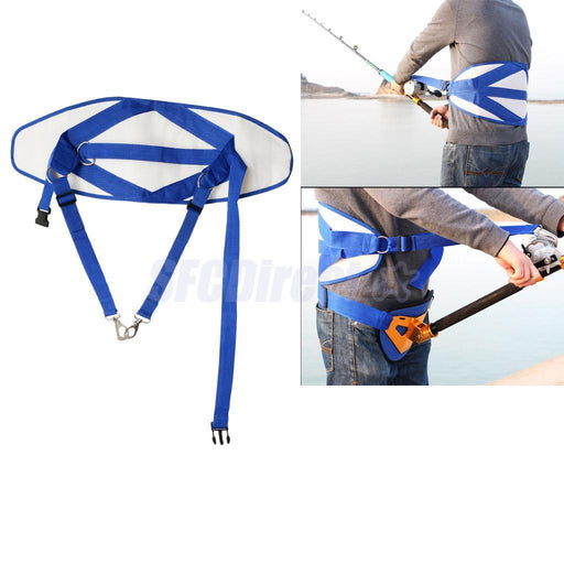 Stand Up Back Harness Fighting Belt Padded Waist Gimbal Fishing Tackle-Gimbal Belts-Bargain Bait Box-Bargain Bait Box