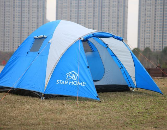 Starhome 2-3 Persons Camping Tent One Bedroom & One Living Room Tent Double-Xingju Outdoor-blue tent 2-Bargain Bait Box