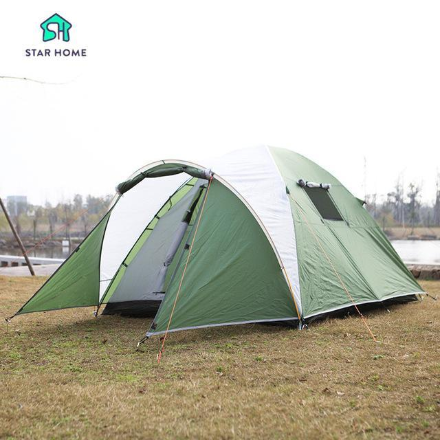 Starhome 2-3 Persons Camping Tent One Bedroom & One Living Room Tent Double-Xingju Outdoor-green tent 2-Bargain Bait Box