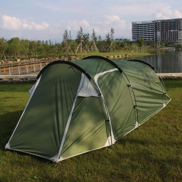 Starhome 2-3 Persons Camping Tent One Bedroom & One Living Room Tent Double-Xingju Outdoor-Green tunnel tent-Bargain Bait Box