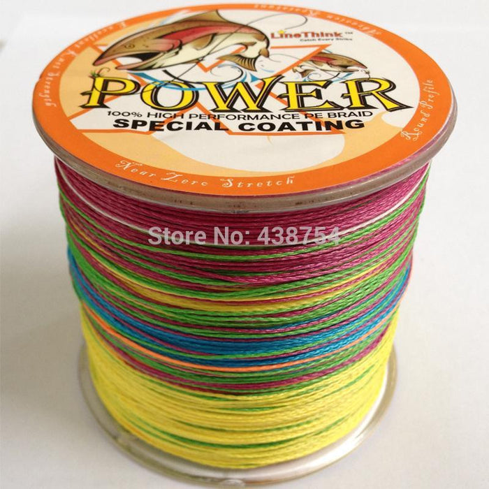 Strong 4 Strands Pe Braided Fishing Line 500M Japanese Multicolor-fishers zone-0.8-Bargain Bait Box