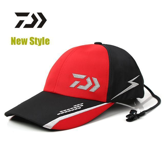 Style Daiwa Fishing Hat Breathable Comfortable Caps Sunshade Hats With 2-Hats-Bargain Bait Box-Red-M-Bargain Bait Box