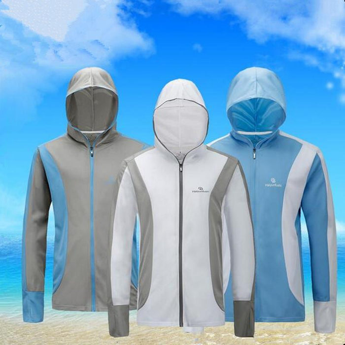 Style Men Sport Fishing Anti-Mosquito Quick-Drying Breathable Anti Uv Hooded-Hoodies-Bargain Bait Box-XL-Ice silk set 03-Bargain Bait Box
