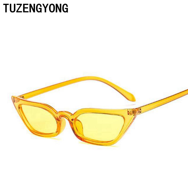 Sunglasses Women Cat Eye Luxury Brand Designer Sun Glasses Retro-Sunglasses-TUZENGYONG Store-t0807 C01-Bargain Bait Box