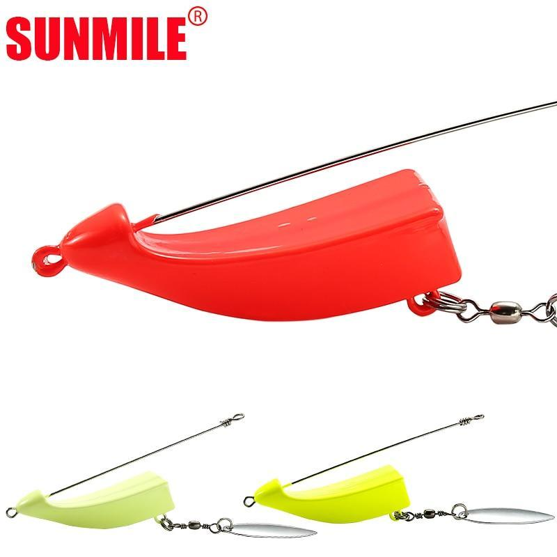 Sunmile Speedboat Fishing Jig Head For Soft Lure Saltwater Swim Bait ,Lead-Fishhooks-SUNMILE Official Store-yellow-40g-Bargain Bait Box