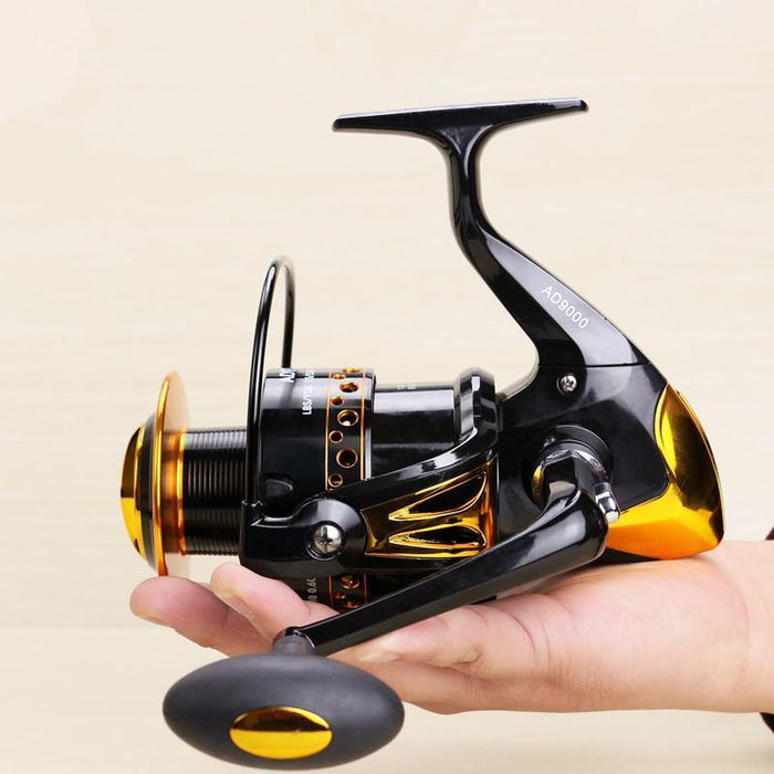 Super Big Capacity Fishing Surfcasting Reels 8000-9000 Long Range Shot-Spinning Reels-Even Sports-Light Gold-8000 Series-Bargain Bait Box