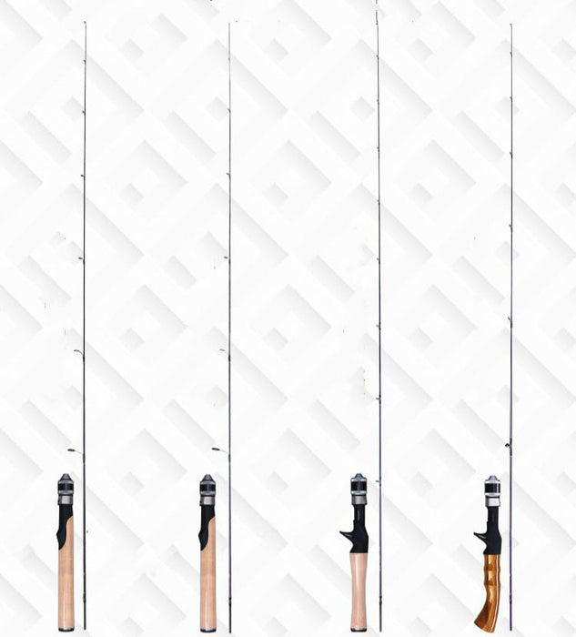 Super Light Fishing Rod 2 Section 1.68M Spinning Casting Lure Rod Power Ul-Spinning Rods-ZHANG 's Professional lure trade co., LTD-Black-Bargain Bait Box