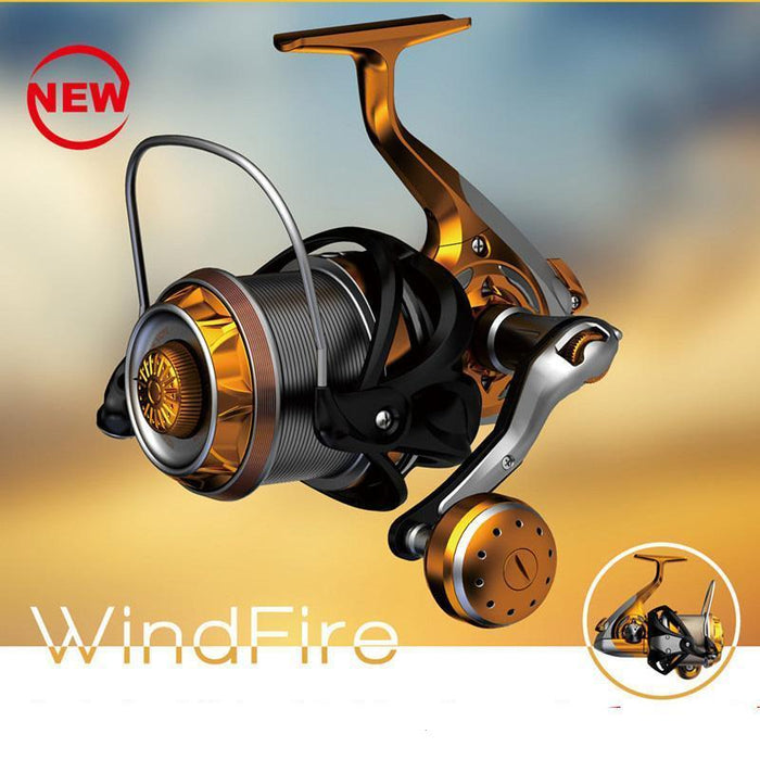 Super Long Casting Fishing Reels Fiber Carbon Body All Stainless Steel 9+1Bb-Spinning Reels-Even Sports-Gold-4000 Series-Bargain Bait Box