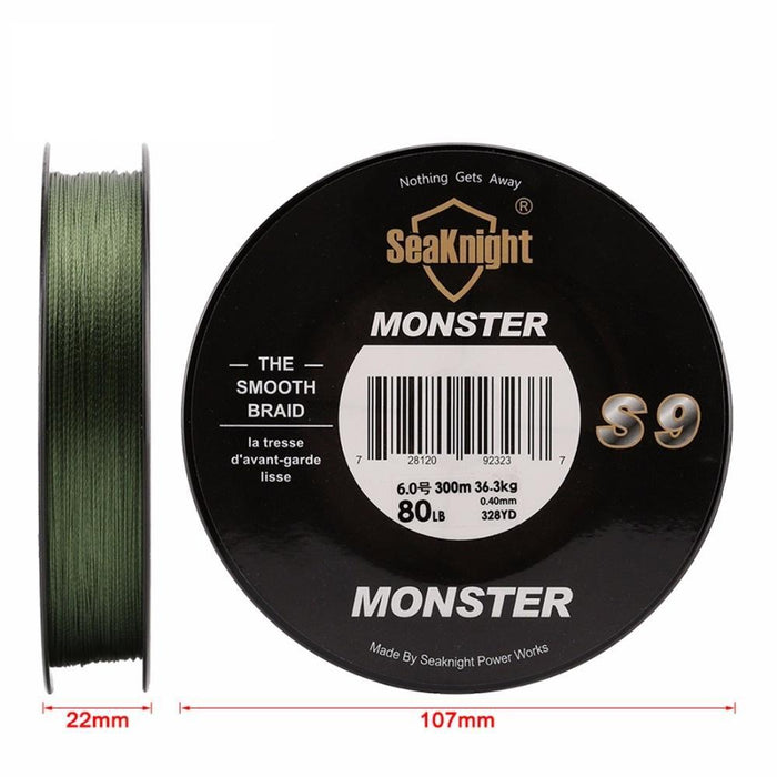 Super Monster S9 300M Braided Fishing Lines S Spiral Braide Tech. 9 Strands-Sequoia Outdoor (China) Co., Ltd-2.0-Bargain Bait Box