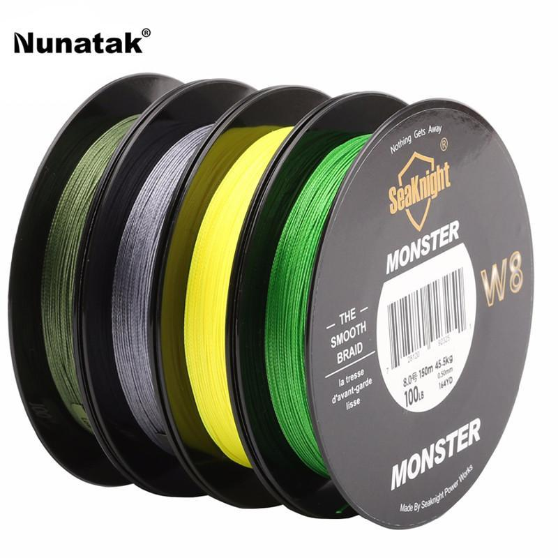 Super Strong150 M Multifilament Line Fishing Line Pe Braid 8 Strands Super-Sequoia Outdoor (China) Co., Ltd-Yellow-1.0-Bargain Bait Box