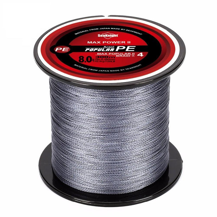 Super Tri-Poseidon Series 300M 328Yds 4 Strands Braided Fishing Line Japan-Sequoia Outdoor (China) Co., Ltd-White-0.4-Bargain Bait Box