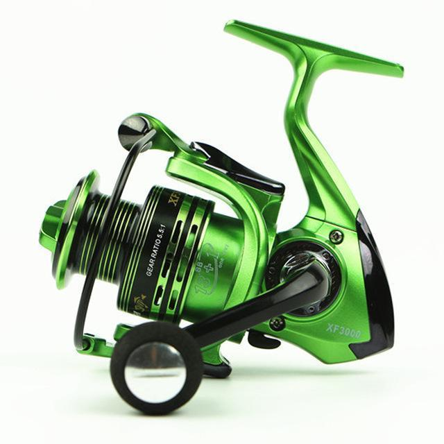 Superior Aluminum Carp Fishing Spinning Reel Fishing Reels Fishing 13 + 1Bb 3-Spinning Reels-Outdoor Sports & fishing gear-Green-1000 Series-Bargain Bait Box