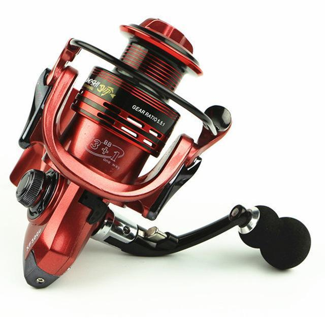 Superior Aluminum Carp Fishing Spinning Reel Fishing Reels Fishing 13 + 1Bb 3-Spinning Reels-Outdoor Sports & fishing gear-Red-1000 Series-Bargain Bait Box